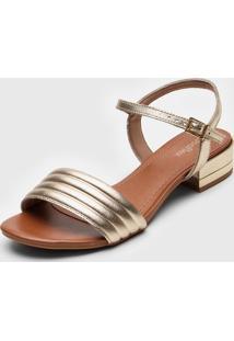 Sandália Usaflex Matelassê Dourada
