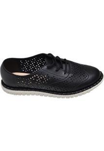 Sapato Feminino Oxford Moleca Preto