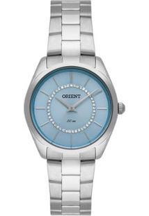 Relógio Orient Prateado Com Pedras Feminino - Feminino
