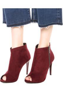 Open Boot Dafiti Shoes Comfort Vinho