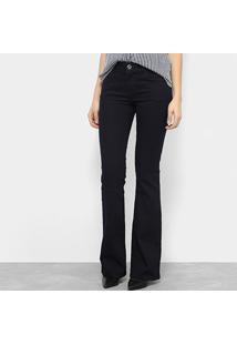 ... Calça Jeans Flare Colcci Fátima Básica Cintura Média Feminina -  Feminino-Azul Escuro 229cd86bf5f