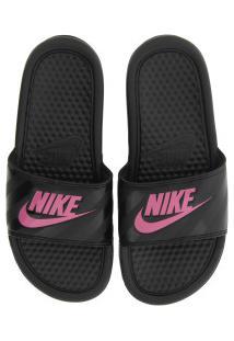 Chinelo Nike Benassi Jdi - Slide - Feminino - Preto/Rosa Esc