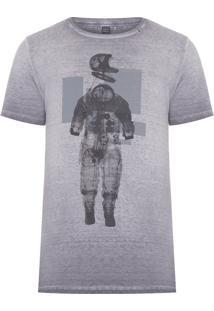 Camiseta Masculina Astronauta - Cinza