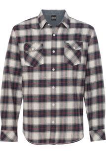 Camisa Blanks Co Flanela Xadrez 8210 White/Red - Masculino