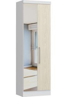 Modulo Com 2 Portas C/ Espelho Infinity 3820A-Castro Móveis - Branco Tx / Nudi