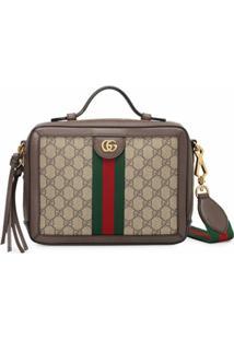 Gucci Bolsa Tiracolo Ophidia Gg Pequena - Marrom