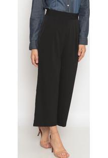 Calça Pantalona Com Pregas- Preta- Pacifc Bluepacific Blue