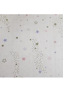 Papel De Parede Fwb Lavável Fundo Bege Com Estrelas Coloridas