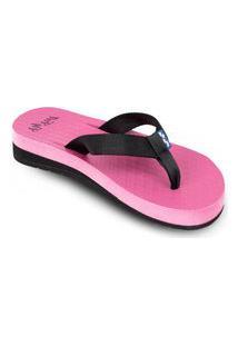 Sandália Fly Feet Anabela Rosa Pink Ortho Pauher