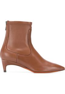 Santoni Pointed Ankle Boots - Marrom