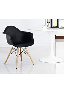 Cadeira Eames Daw Madeira Preto