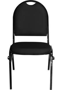 Cadeira Pethiflex Essencial Hot Fixável Couro Preto