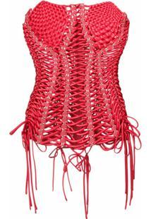 Dolce & Gabbana Blusa Com Padronagem - Vermelho
