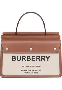 Burberry Small Horseferry Print Title Bag - Marrom