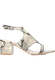 Sandália Feminina Block Heel Cover Up - Animal Print