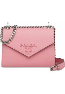 Prada Bolsa Tiracolo Monochrome - Rosa