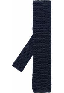 Tom Ford Echarpe De Tricô Pesado E Seda - Azul