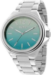 Relógio Euro Feminino Analogico Premium - Unissex-Prata