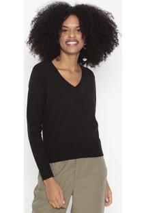 Suéter Em Tricô - Preto - Wool Linewool Line