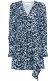 Les Rêveries Vestido Envelope Animal Print - Azul