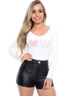 Body Nathalia Freitas Ml Love Branco