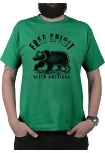 Camiseta Bleed American Free Spirit Bandeira