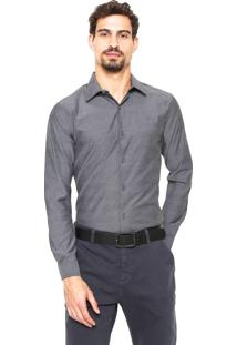Camisa Victory Eagle Slim Fit Cinza