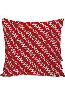 Capa De Almofada Geometric- Vermelha & Branca- 45X45Stm Home