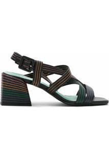 Blue Bird Shoes Sandália Malik De Couro - Preto
