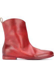 Marsèll Ankle Boot Com Efeito Destroyed - Vermelho