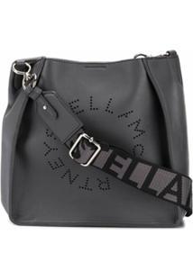 Stella Mccartney Bolsa Transversal Mini Com Logo Stella - Cinza