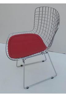 Cadeira Bertoia Assento Courrissimo Vermelho 9842 Sun House