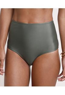 Biquíni Calcinha Hot Pant Com Proteção Uv50+ Verde Militar