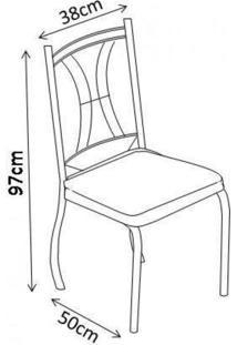 Conjunto Mesa Tampo Vidro 4 Cadeiras Agatha Art Panta Preto/Verde Claro