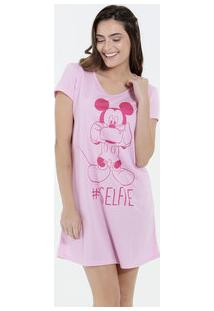 Camisola Feminina Estampa Mickey Manga Curta Disney