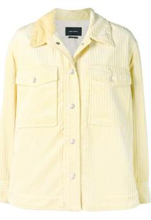Isabel Marant Ribbed Shirt Jacket - Amarelo
