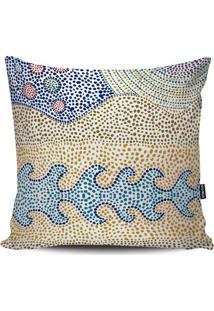 Capa Para Almofada Abstrata- Azul & Amarela- 45X45Cmstm Home