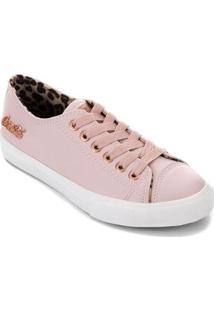 Tênis Coca-Cola Basket Floater Skin Feminino - Feminino-Rose Gold