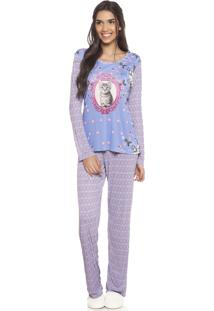 Pijama Adulto Etnico Daniela Tombini Azul