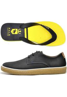 Kit Sapatênis +Chinelo Top Franca Shoes Masculino - Masculino-Marinho