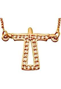 Colar Le Diamond Cristo Redentor Rosa - Tricae