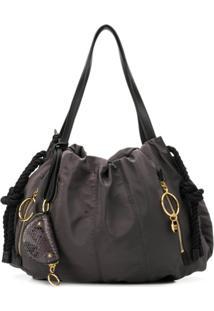 See By Chloé Large Flo Shoulder Bag - Cinza