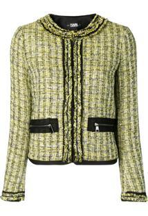 Karl Lagerfeld Jaqueta De Tweed - Amarelo