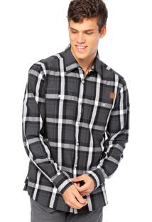 Camisa Manga Longa West Coast Bolso Cinza