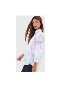 Camisa Polo Ralph Lauren Tie Dye Branca/Azul