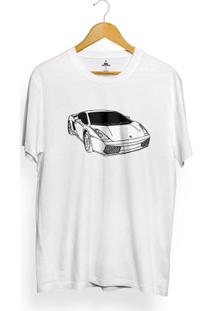 Camiseta Skill Head Lambo - Masculino-Branco