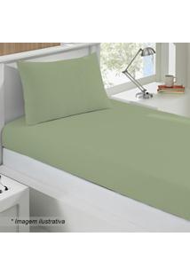 Jogo De Cama Basic Solteiro- Verde- 2Pã§S- Buettnbuettner