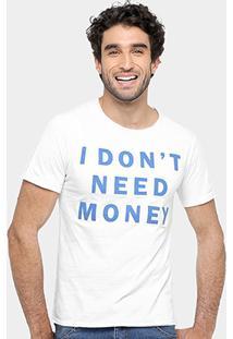 Camiseta Sergio K Estampa Money Masculina - Masculino