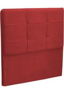 Cabeceira Solteiro Cama Box 90 Cm London Vermelho - Js Móveis