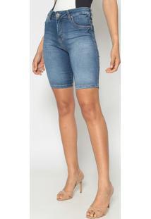 Bermuda Jeans Estonada- Azul Escuro- Young Stylelee